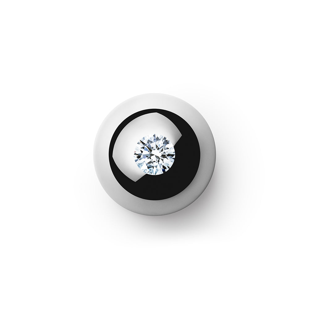 1.084ct Godavari Diamond - set within a platinum globe
