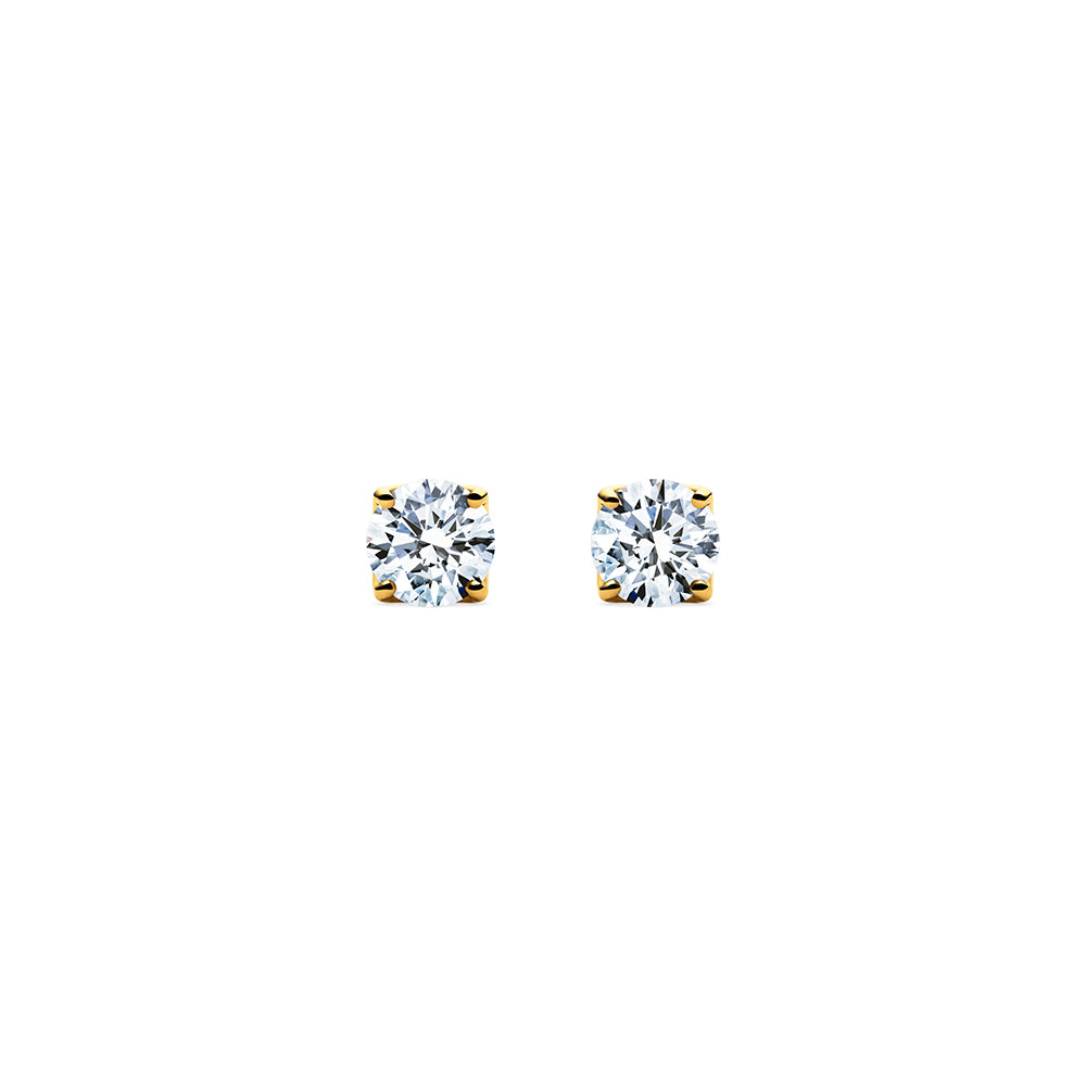 Aurora Diamond Studs - 18k Gold