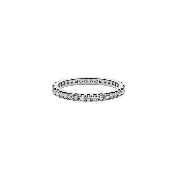 Solaris Diamond Stacker Ring - Platinum