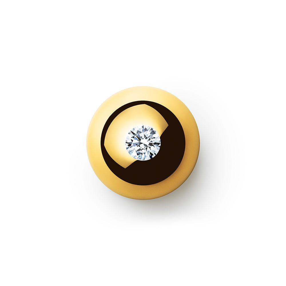 0.701ct Godavari Diamond - set within a 18k gold globe