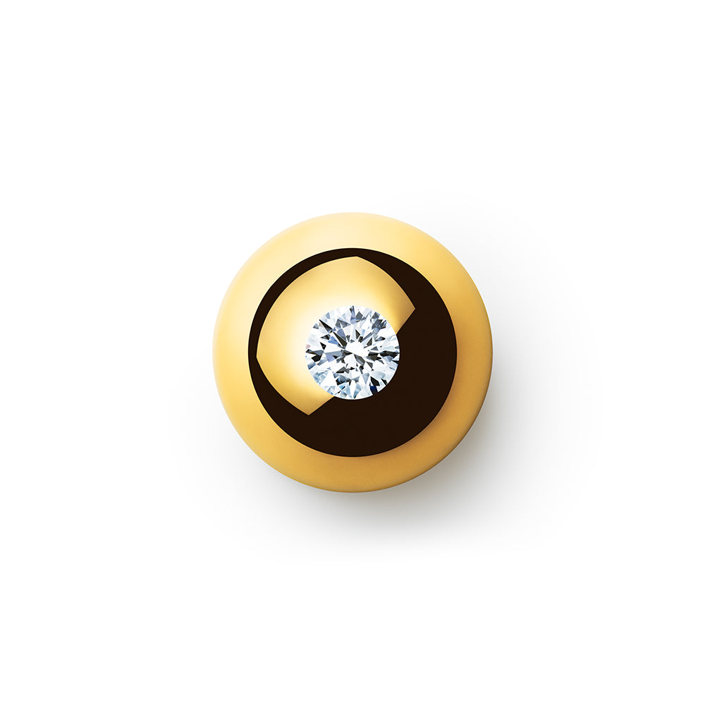 1.084ct Godavari Diamond - set within a 18k gold globe