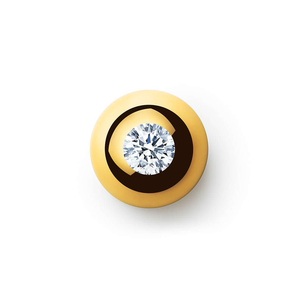 3.000ct Godavari Diamond - set within a 18k gold globe