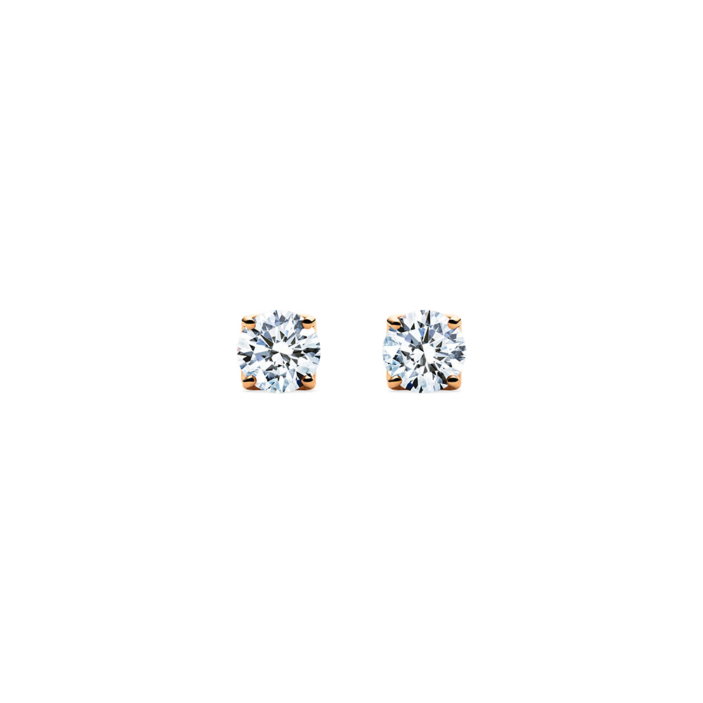 Aurora Diamond Studs - 18k Rose Gold