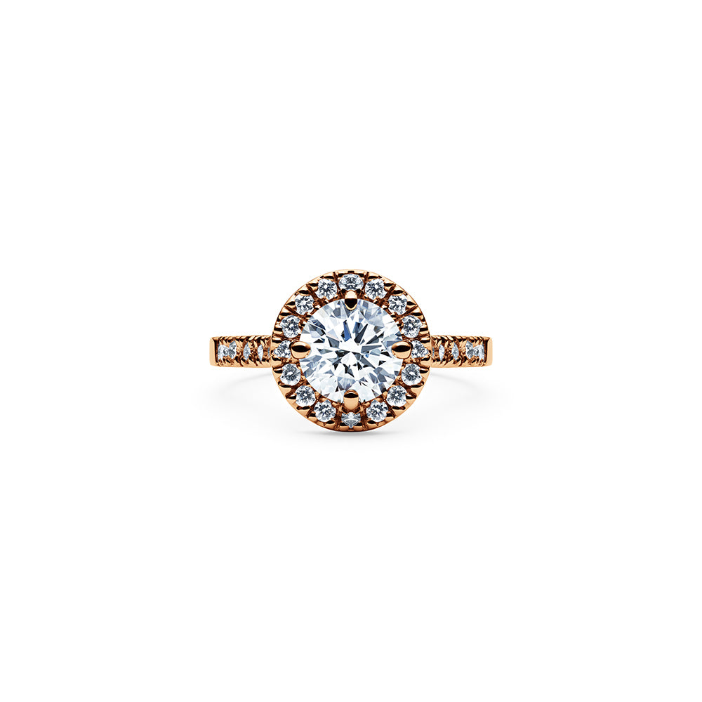 Solaris Diamond Ring - 18k Rose Gold