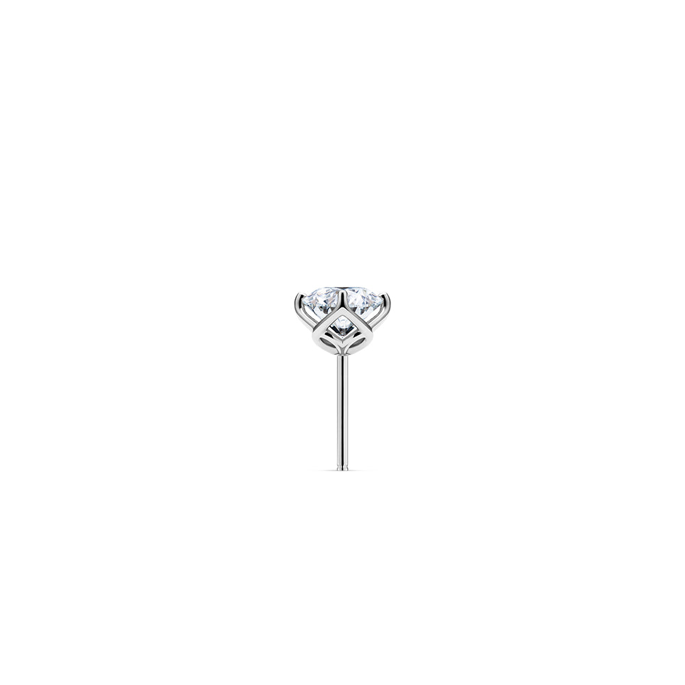 Aurora Diamond Studs Si - Platinum with Large Hoop Accessory