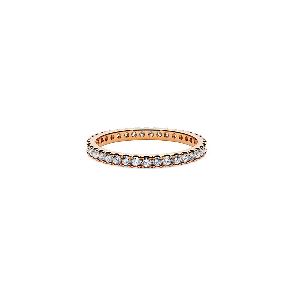 Solaris Diamond Stacker Ring - 18k Rose Gold