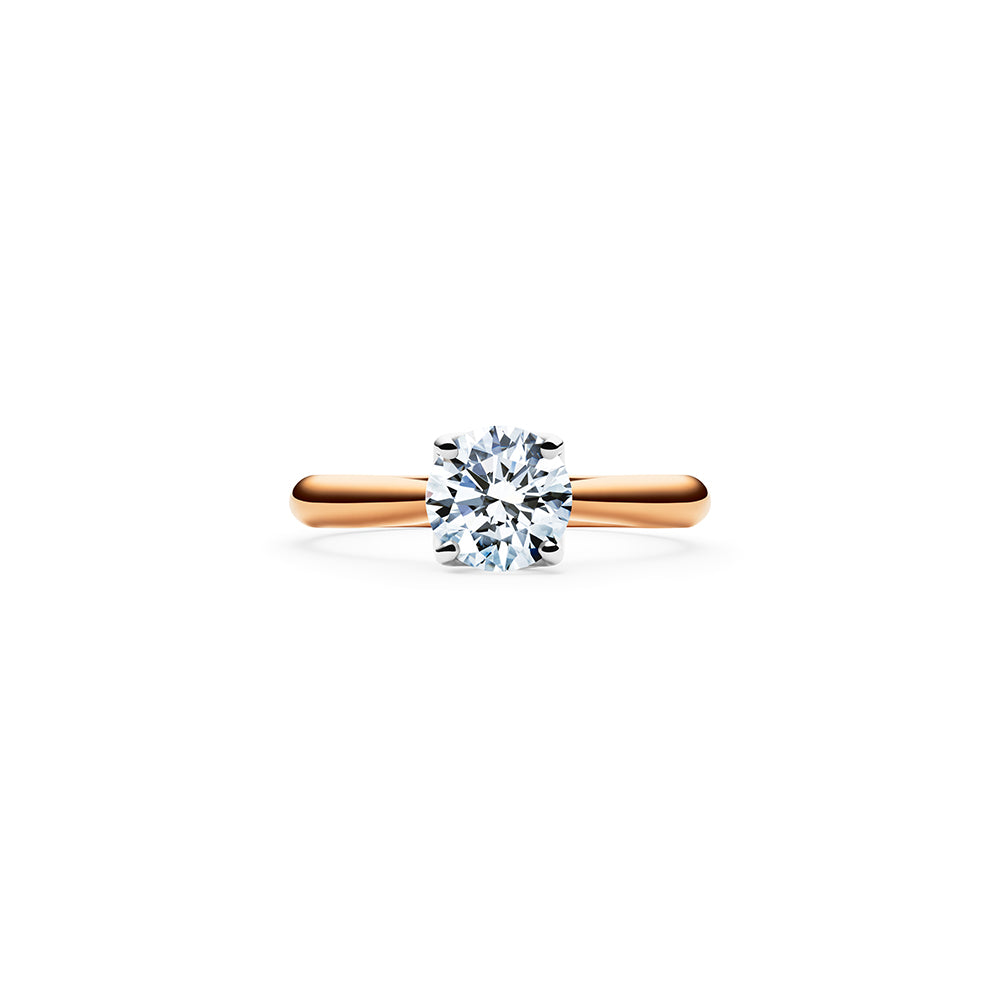 Aurora Solitaire Diamond Ring - 18k Rose Gold
