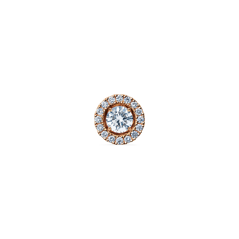 Solaris Halo Stud Accessories - 18k Rose Gold