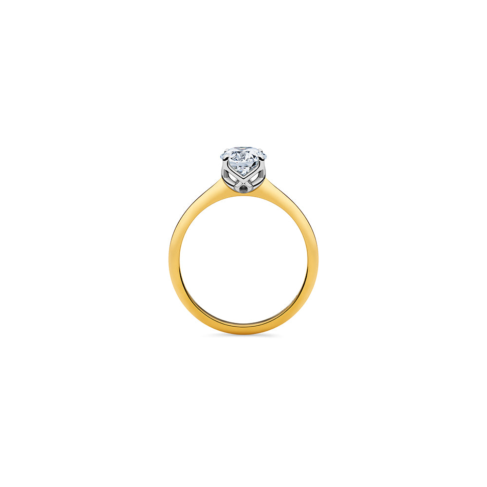 Aurora Solitaire Diamond Ring - 18k Gold