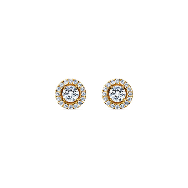 Skagi Diamond Studs Si - 18k Gold with Halo Accessory