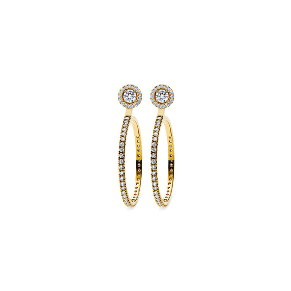 Skagi Diamond Studs Si - 18k Gold with Solaris Halo & Large Hoop Accessories