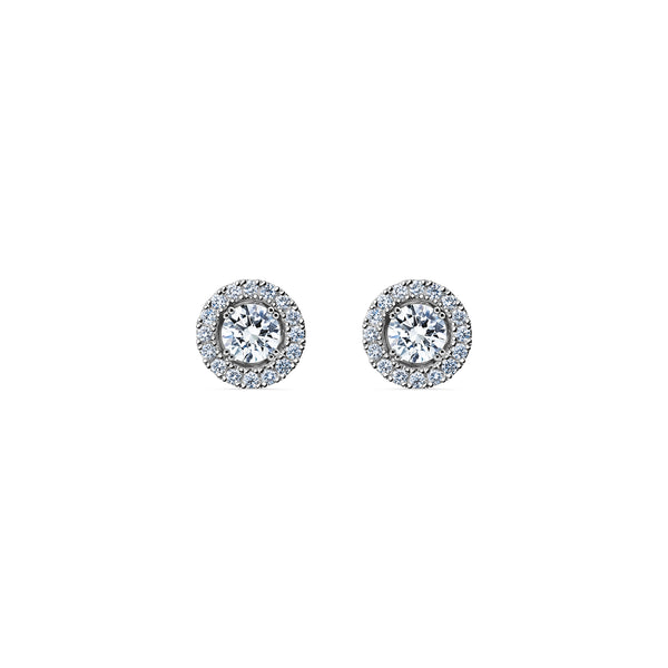 Skagi Diamond Studs Si - Platinum with Halo Accessory