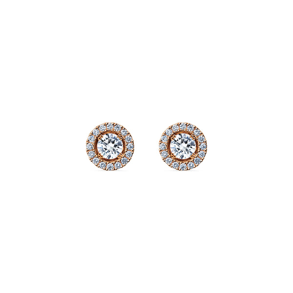 Skagi Diamond Studs Si - 18k Rose Gold with Halo Accessory