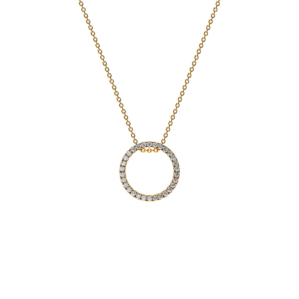 Solaris Diamond Pendant Necklace - 18k Gold