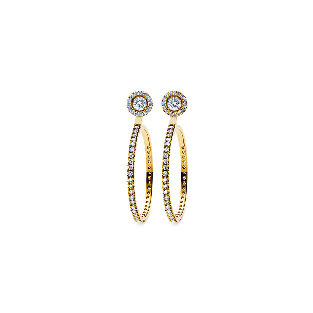 Solaris Hoop Large Stud Accessories - 18k Gold