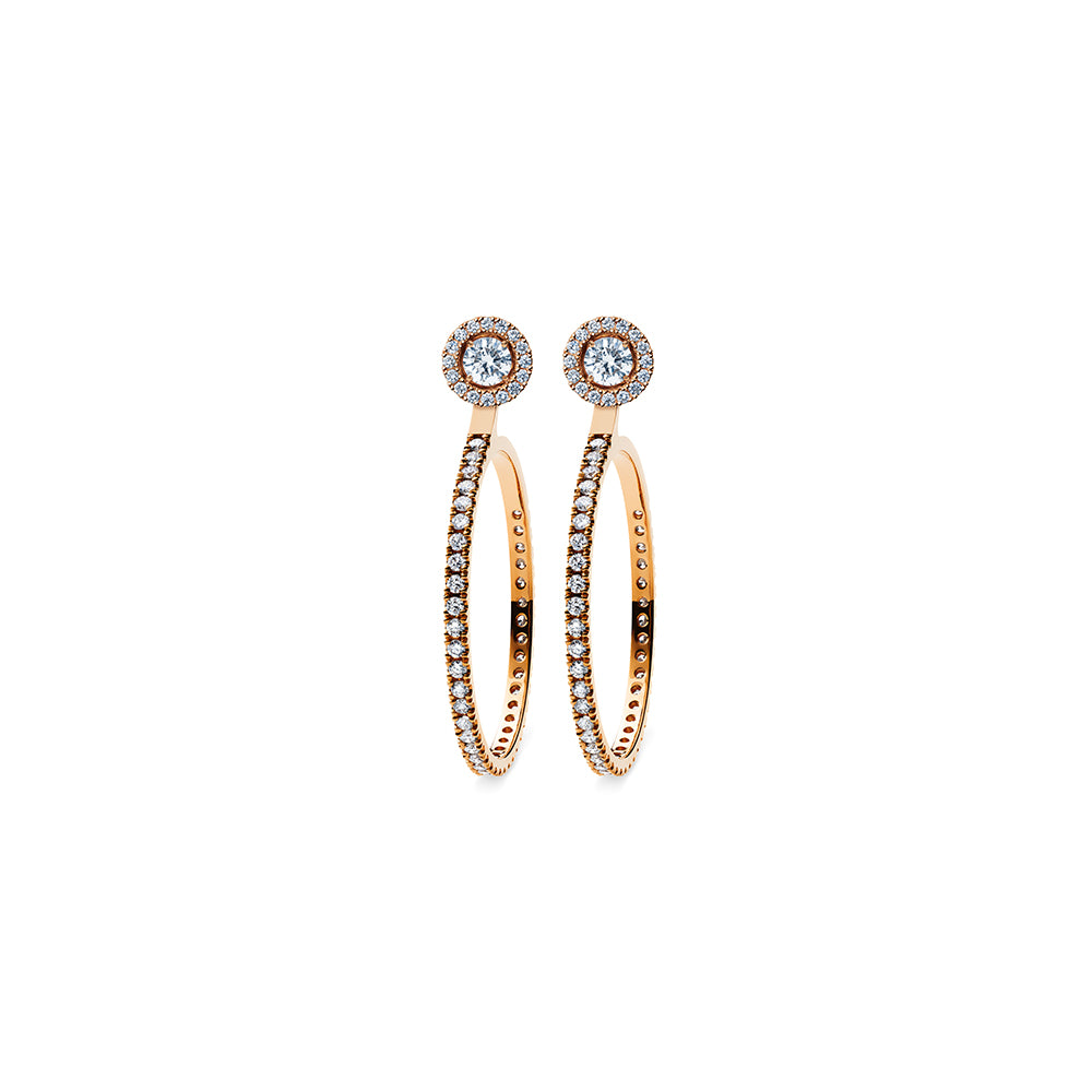 Solaris Hoop Large Stud Accessories - 18k Rose Gold