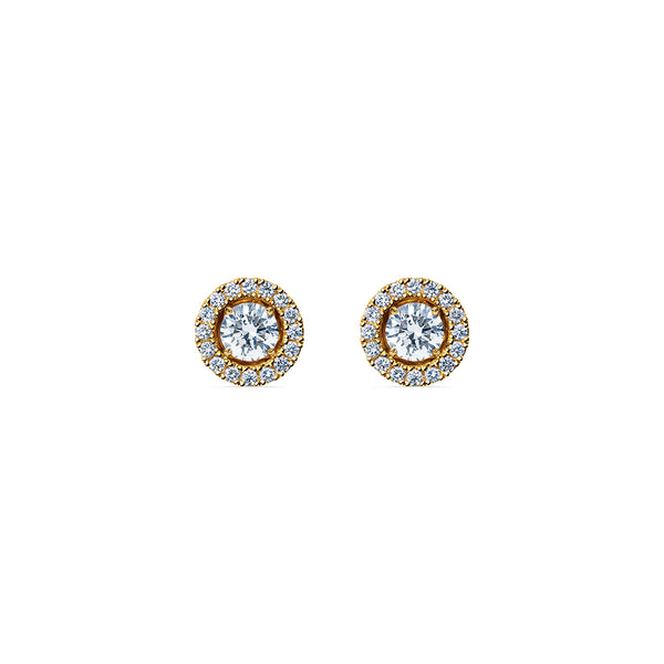 Godavari Aurora Diamond Studs - 18k Gold with Halo Accessories