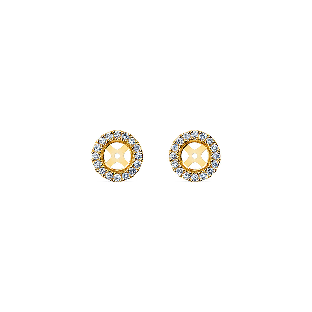 Solaris Halo Stud Accessories - 18k Gold