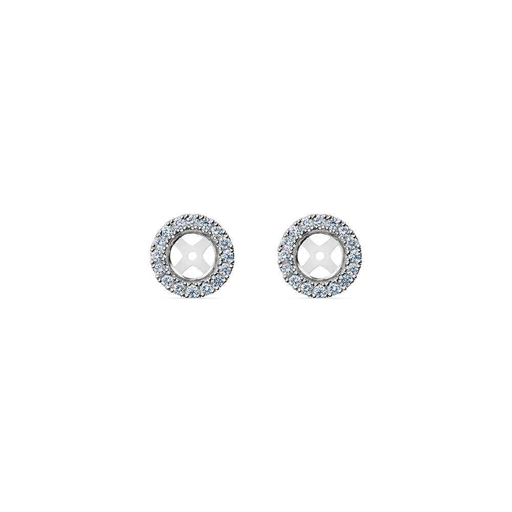 Solaris Halo Stud Accessories - Platinum