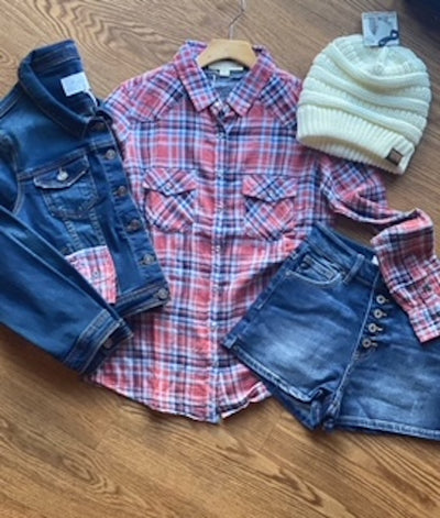 Pink and Blue Plaid Button Down