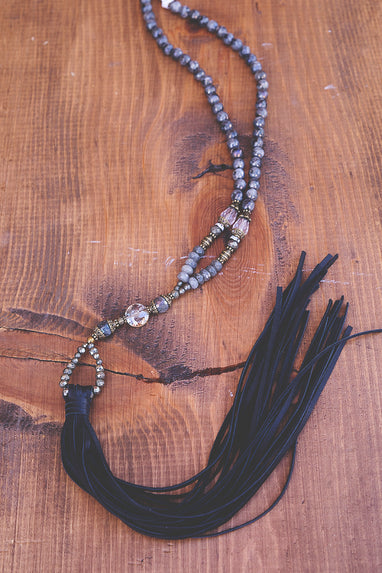 Deer Skin Beaded Fringe