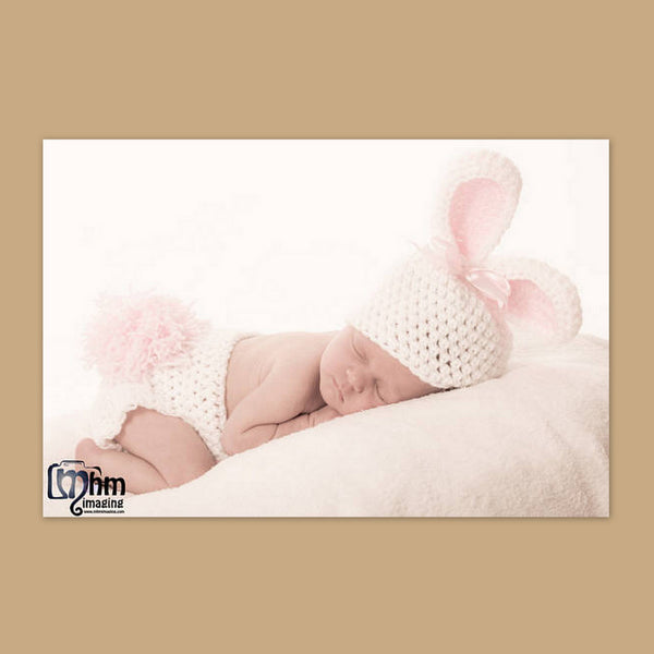 Baby Bunny Beanie and Diaper cover Set -pink, blue or beige