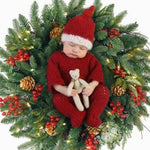 red and white newborn baby christmas santa suit
