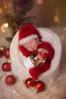 red and white santa suit photography prop for baby