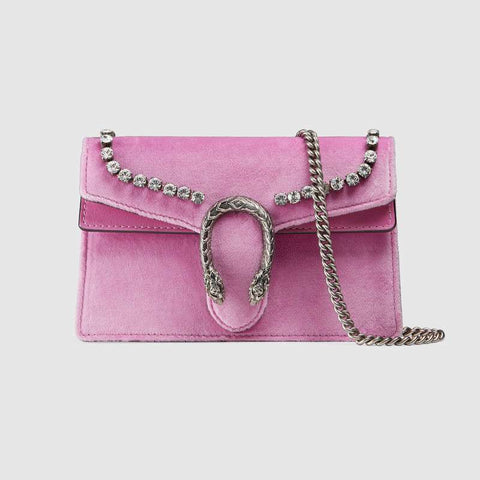 Dionysus suede super mini bag with crystals