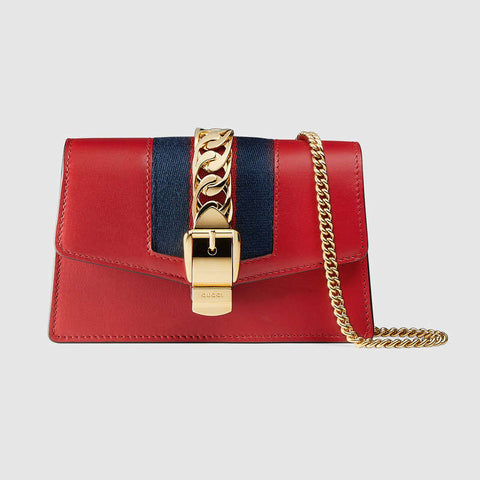 Sylvie leather mini chain bag
