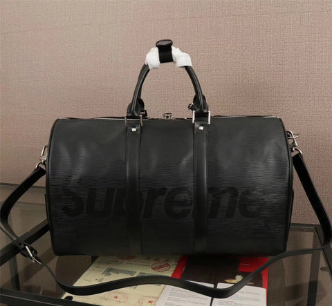 Louis Vuitton x Supreme Keepall Bandouliere Epi 45 BLACK