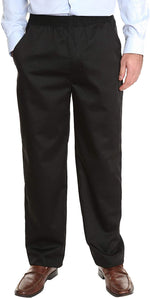 Pembrook Men's Full Elastic Waist Twill Casual Pants