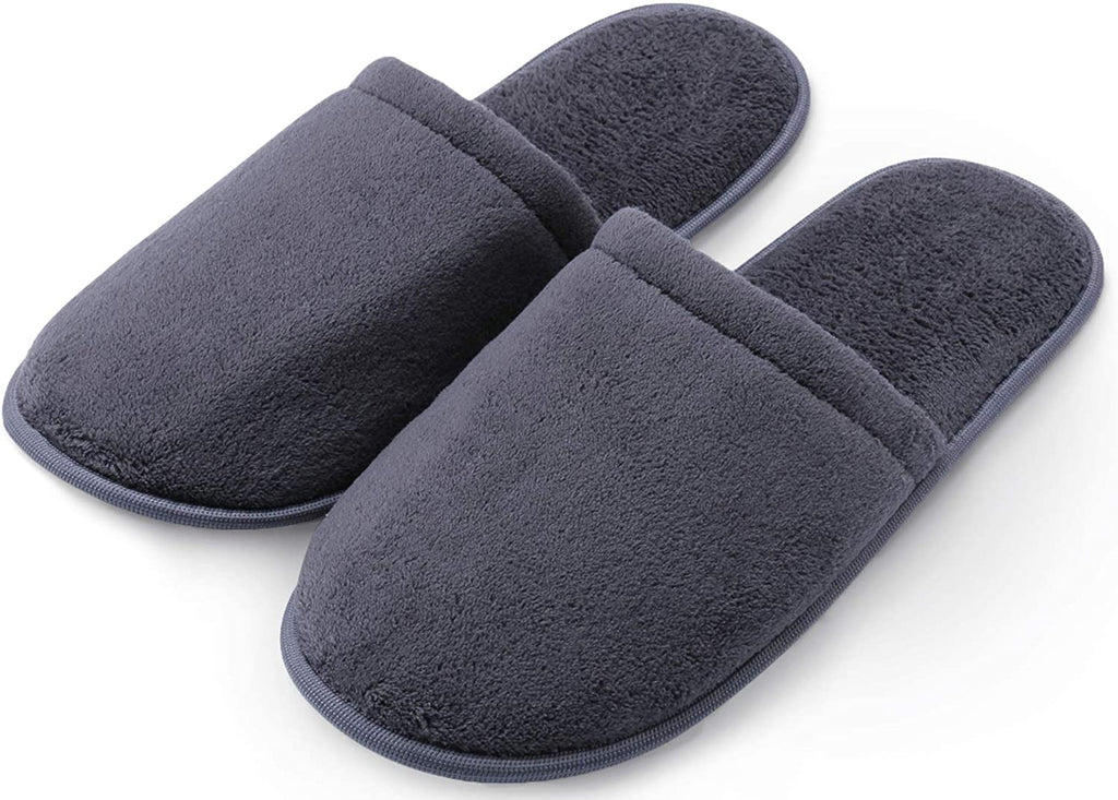 Pembrook Men's Slippers with Memory Foam – Soft Polar Fleece