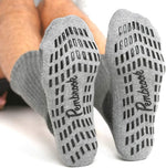 Non Skid Crew Socks - (4 Pairs) - Anti Slip Socks for Barre Yoga Pilates Maternity Pregnancy Hospital Adults Men Women