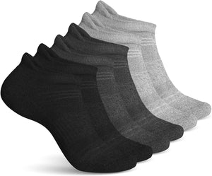 Men's Athletic Sport Ankle Socks - 6 Pairs