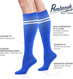 Women's Compression Socks (6 Pack) – Graduated Support