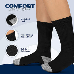 Diabetic Socks with Grippers | 6-pairs