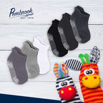 Kids Non Skid Socks - Ankle Style