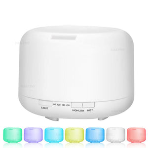 Ultrasonic Diffuser (500ml) with 7 Colour LED Lights