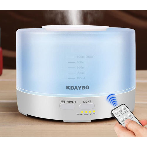 500ml Remote Control Ultrasonic Diffuser with 7 Colour LED Lights