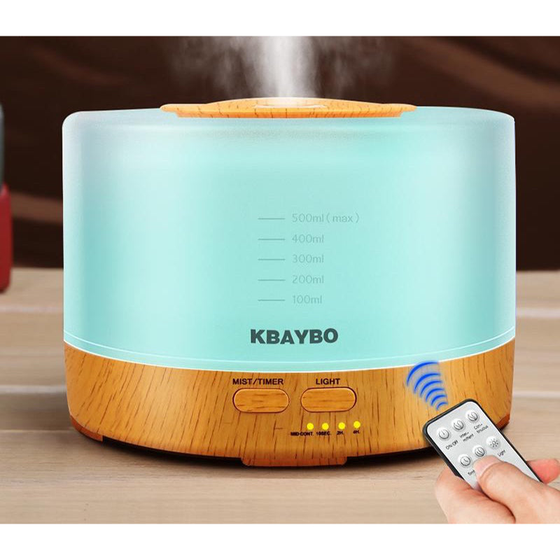 Remote Control Ultrasonic Essential Oil Diffuser with LED lights (500ml)