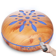 Wood Grain Ultrasonic Diffuser (550ml) with remote control and LED lights