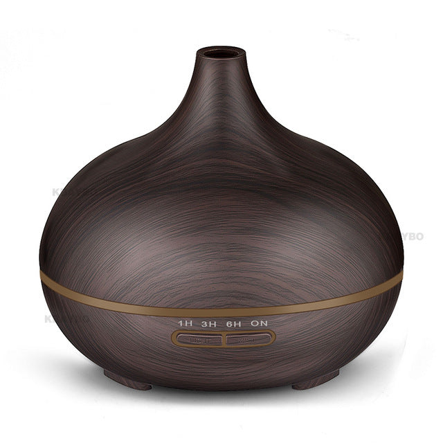 Wood Grain (300ml) Ultrasonic Diffuser with 7 colour LED Lights