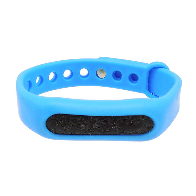 Silicone Essential Oil Diffuser Bracelets with Lava Stone for Children, Men and Women