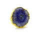 BLUE AGATE GOLD PLATED RING
