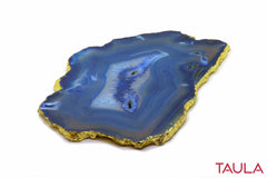 BLUE LACE AGATE STONE CHEESE PLATTER - Taula Pte Ltd