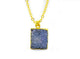 DRUZY PENDANT IN GOLD PLATED BRASS