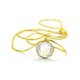 NATURAL CLEAR QUARTZ NECKLACE IN GOLD PLATED BRASS