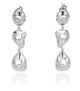 TOPAZ DANGLE EARRINGS IN 925 STERLING SILVER IN RHODIUM PLATING