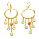 GLAMOR EARRINGS IN 925 STERLING SILVER & 18K YELLOW GOLD PLATING